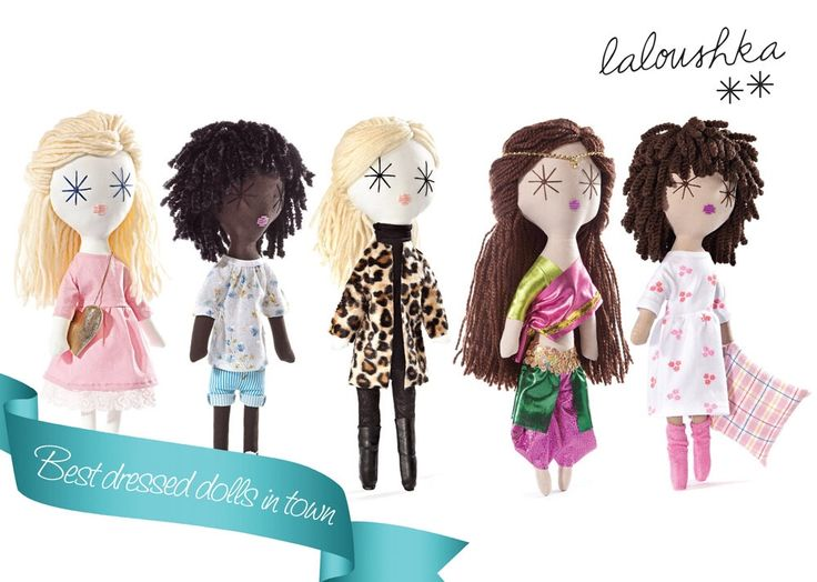 Laloushka dolls - the best dressed dolls in town!!! Hand made in Europe:)