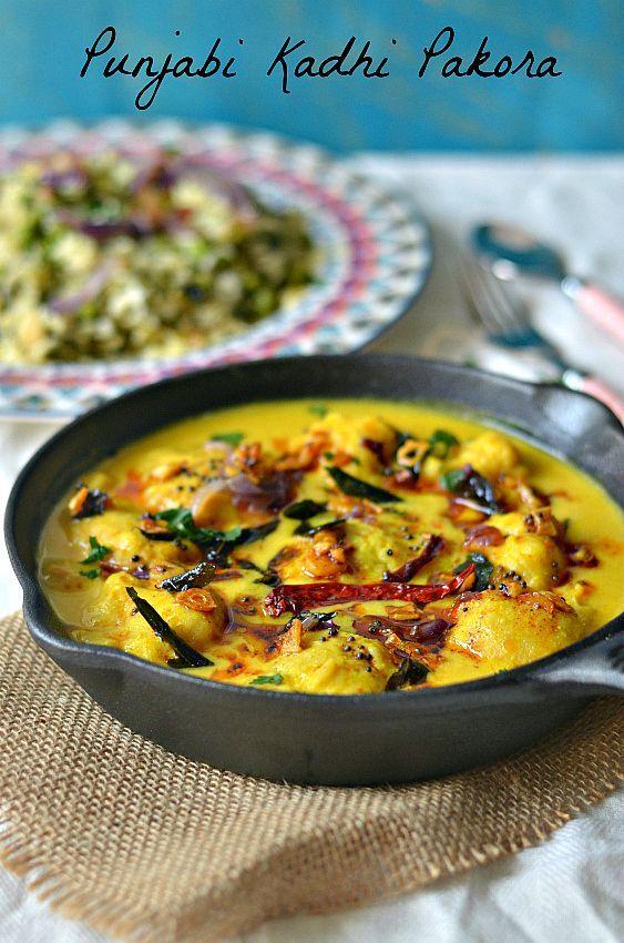 how to make kadhi, punjabi kadhi recipe, dahi ki sabji, punjabi recipes, easy indian recipes, Indian curry recipes, Curry recipes, yogurt based gravy, curd recipe, kadhi rice chawal, fall recipes, winter food, warming food – The Veggie Indian