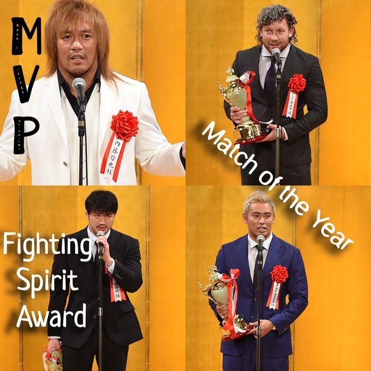 "Tetsuya Naito won the ""MVP"" award, Kenny Omega and Kazuchika Okada won the ""Match of the Year"" award and Katsuyori Shibata won the ""Fighting Spirit"" award at the 2018 Professional Wrestling Award Ceremony"
