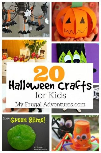 20 Fun and Creative Halloween Craft Ideas for Children-- lots of great projects to spend quality time with your little ones!