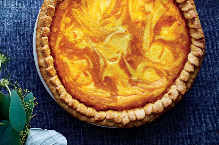 Pumpkin-Lemon Cream Cheese Chess Pie - Our Best November 2016 Recipes - Southernliving. Recipe: Pumpkin-Lemon Cream Cheese Chess Pie