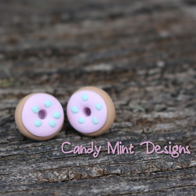 Donut Studs / Candy Mint Designs