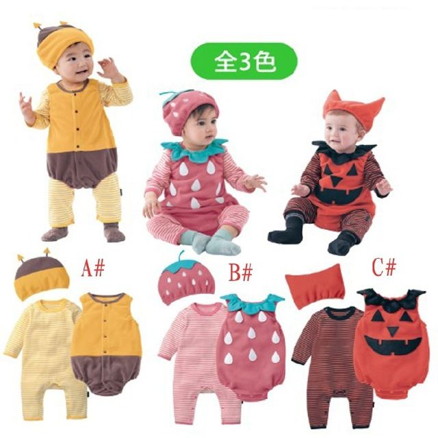 Check lastest price Halloween baby costume pumpkin strawberry bee clothing set 3pcs hat+romper+bodysuit infant toddler kids boys girls clothes just only $15.38 with free shipping worldwide  #babyboysclothing Plese click on picture to see our special price for you