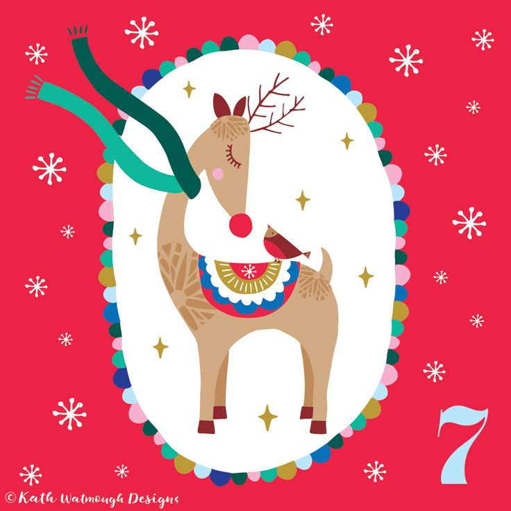 Day 7 - Reindeer and robin.  #makeitindesign #reindeer #robin #advent #adventcalendar #adventchallenge2017 #adventcalendar2017 #adventcalendarart #christmascalendar #christmascountdown #illustration #freelance #freelancedesigner #christmas2017 #christmas #kathwatmoughdesigns https://www.instagram.com/kathwatmough