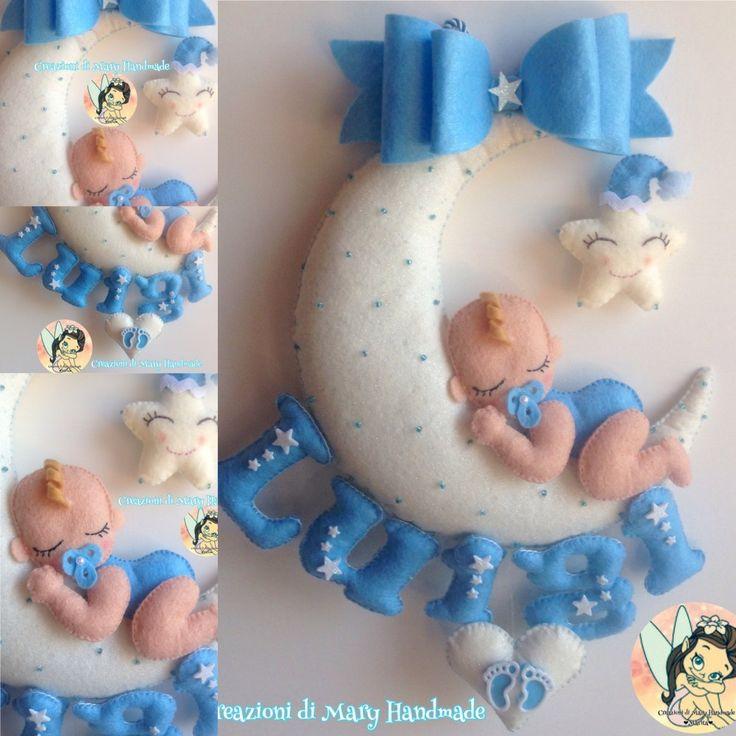 Creazioni di Mary Handmade su Bebuù: Fiocco nascita Dolce bimbo