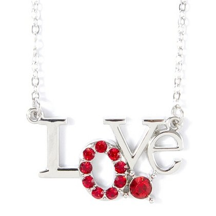 We're in love with this Pendant Necklace with sparkly red crystals