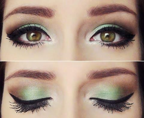 Mint - looks good with the brown eyes