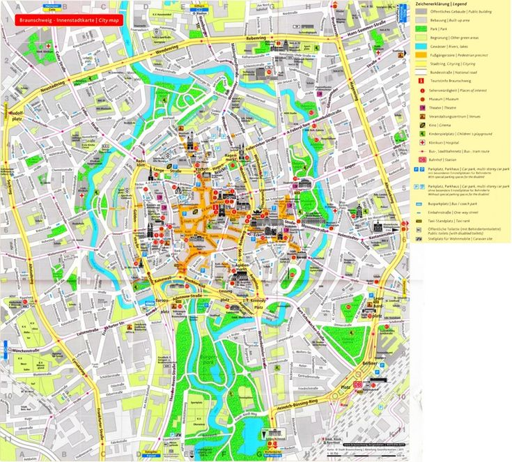Stunning Braunschweig tourist map