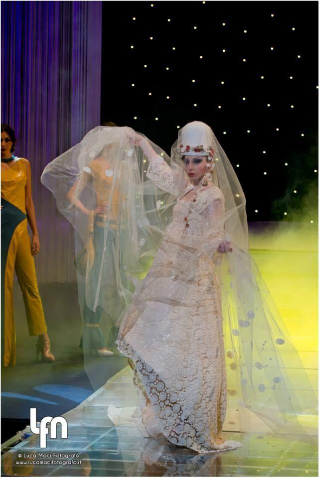 wedding dress, lace, mevlana , mevlevi hat, med-moda