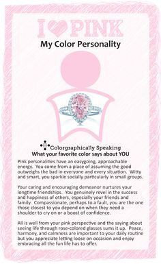 Is Pink Your Favorite Color Click To Find Out What That Means Learn About The Psychology Behind Ilovepink Colorpsychology