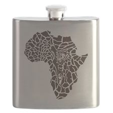 Africa in a giraffe camouflage Flask
