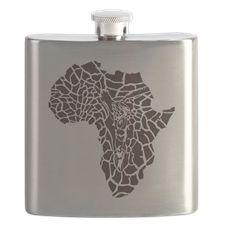 Africa in a giraffe camouflage Flask
