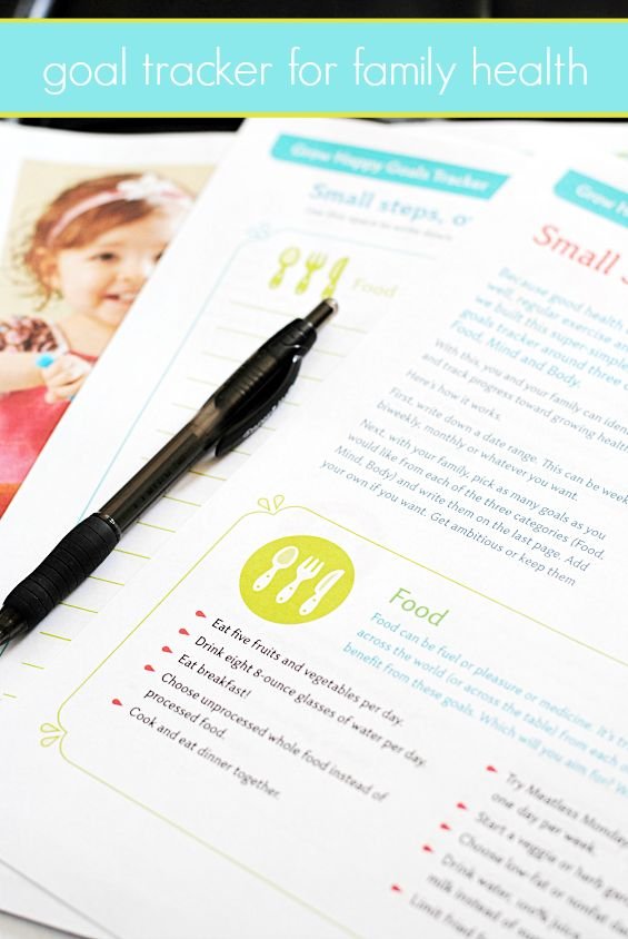Set family goals for health and track them using #growhappy | www.somethingswanky.com