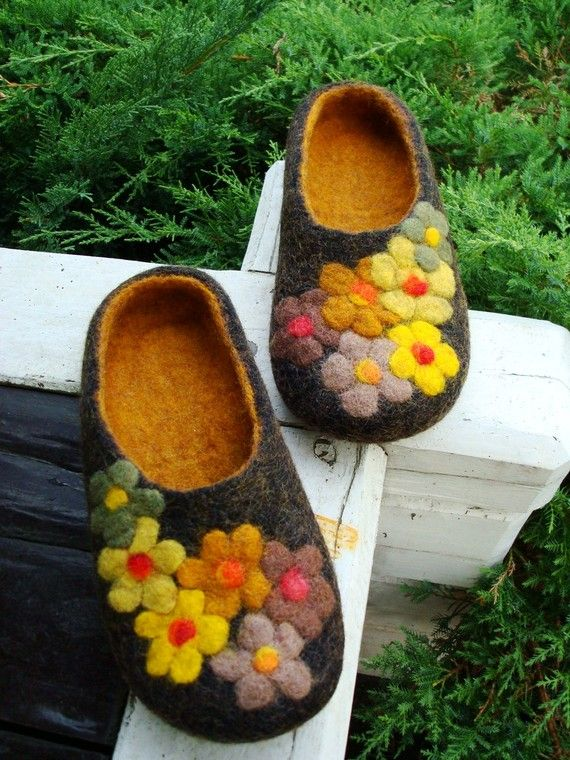wool/felt slippers - want to make these