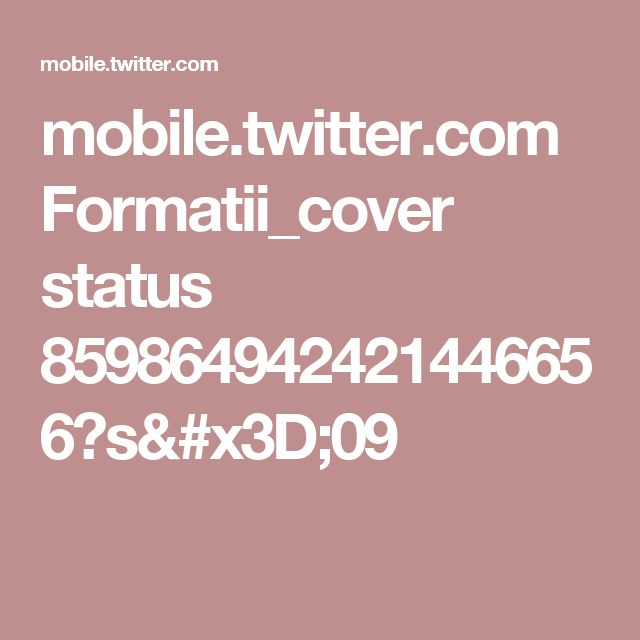 mobile.twitter.com Formatii_cover status 859864942421446656?s=09