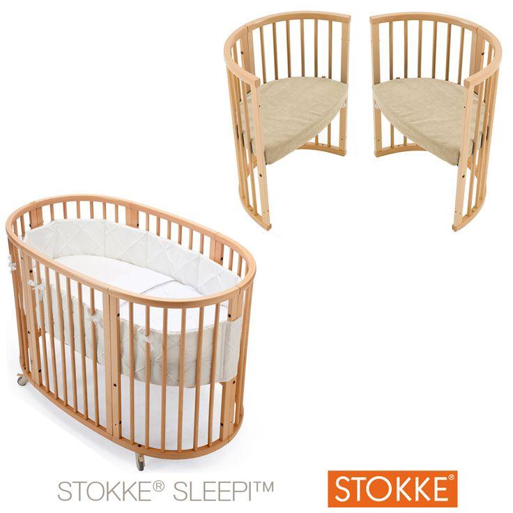 Lit Sleepi™ 120 cm Noyer de Stokke®, Lits 60 x 120 cm transformables : Aubert