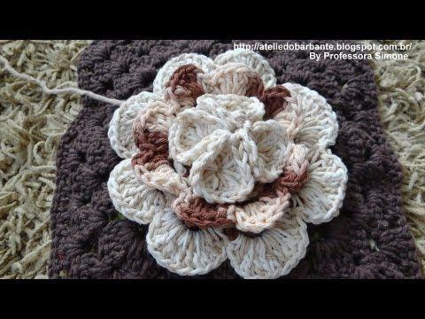 Crochet Geek - Irish Rose Crochet Flower - YouTube