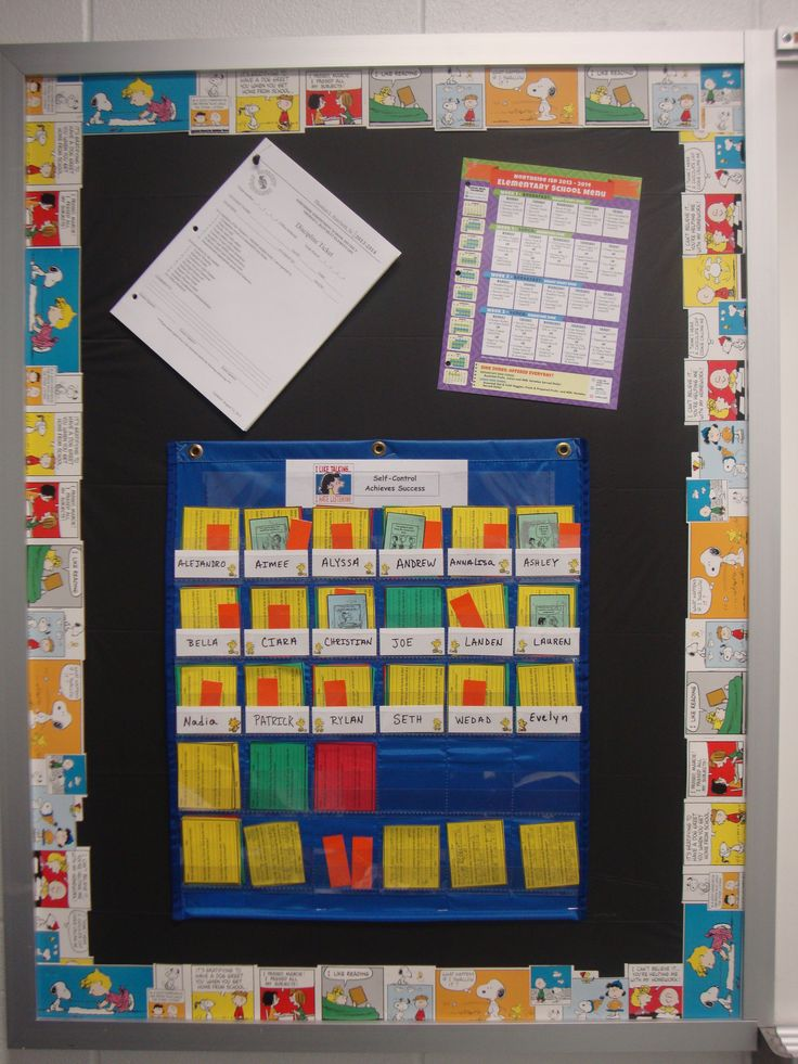 Classroom Decor Charts : Classroom decor peanuts gang behavior chart bulletin