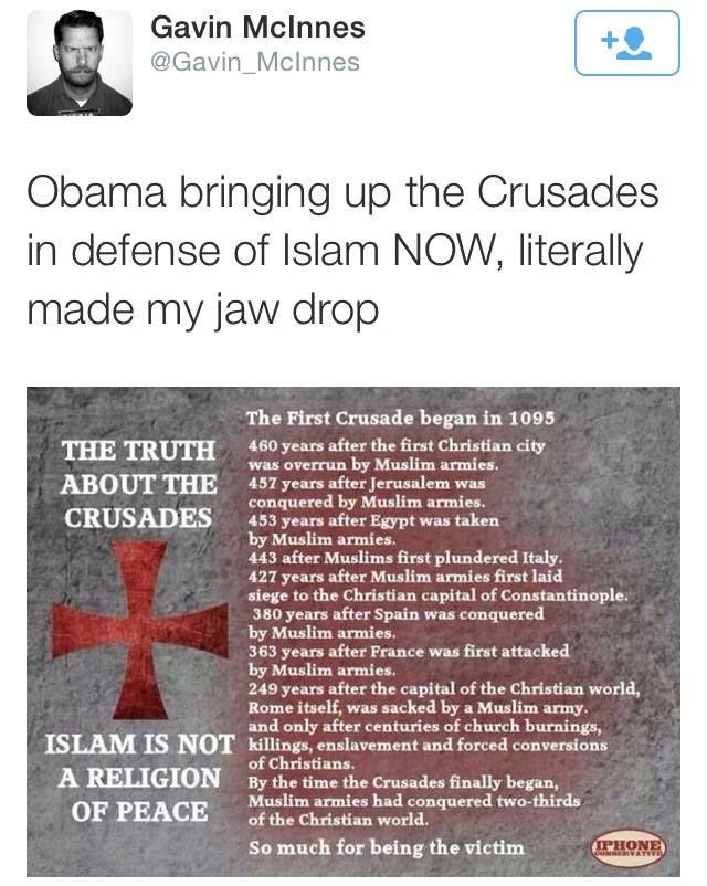 EPIC responses to Obama bringing up the crusades. LOVE Franklin Graham's response!!