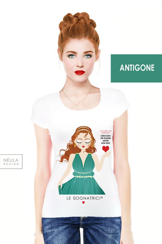 T-shirt Le Sognatrici - Antigone - tees - outfit - made in italy