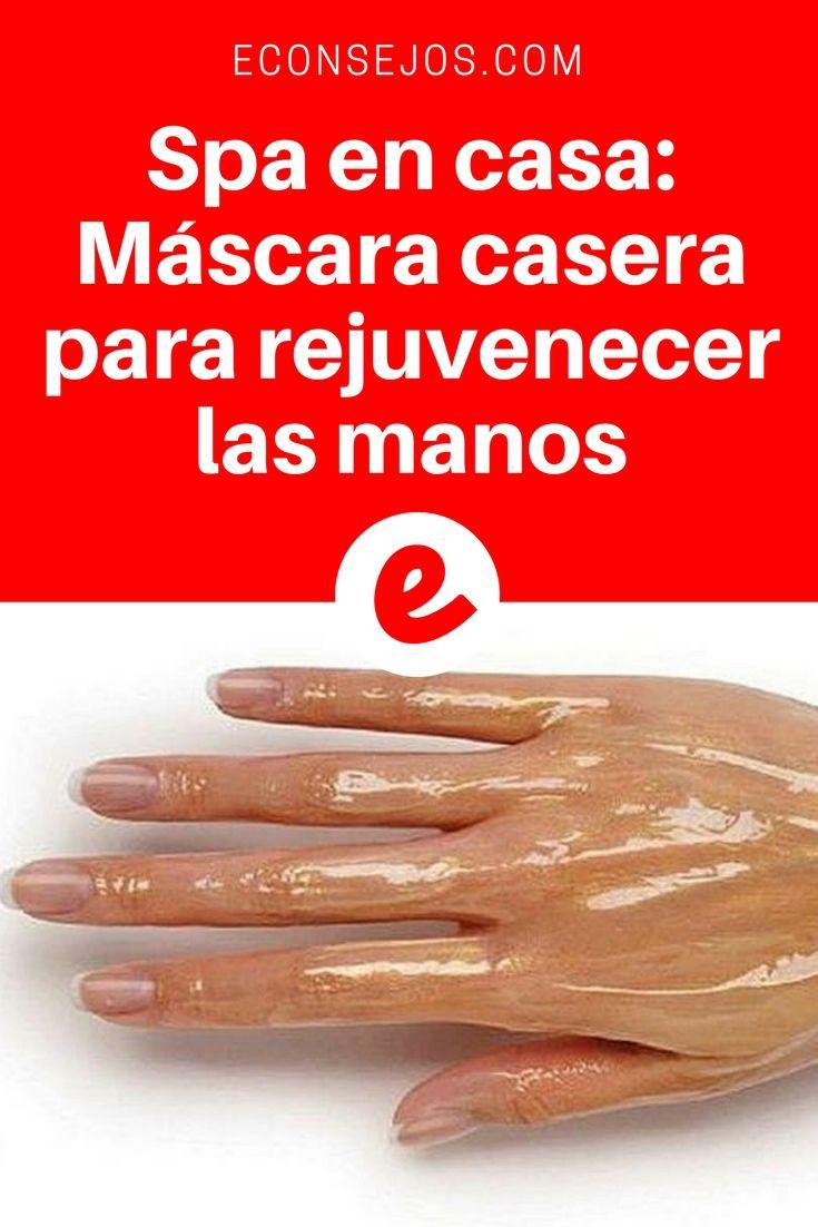 Rejuvenecer las manos | Spa en casa: Máscara casera para rejuvenecer las manos | La piel de las manos es muy delgada y sensible, por lo que se aclara rápidamente, ya sea a causa del impacto constante de factores ambientales negativos, como el viento, los cambios de temperatura o el ...