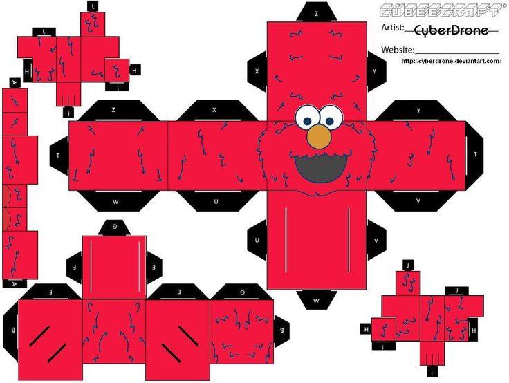 PRINTABLE: Elmo paper toy