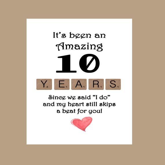 10th Wedding Anniversary Card Tenth Wedding Anniversary Card Anniversary Cards For Husband Wedding Anniversary Cards Anniversary Cards For Wife