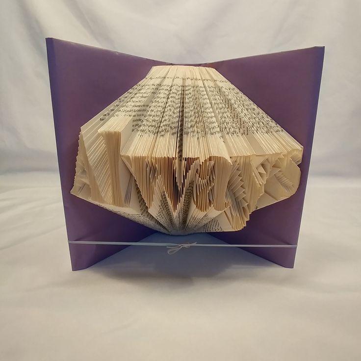 Always, folded book art, Shadow Book, Book folding,Love, Anniversary, Wedding…