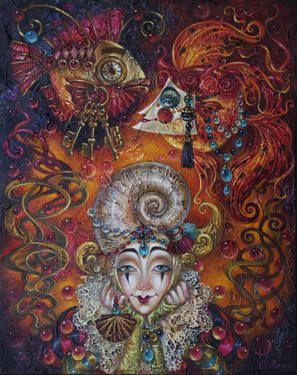 "Artist Elvira Baranova. Painting, ""Beautiful illusions""."