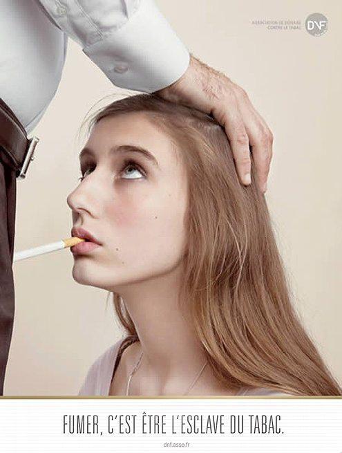 Fumar es ser esclavo del tabaco.