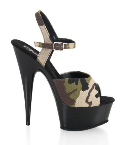 Checkout this amazing deal CAMOUFLAGE High Heel Ankle Strap Stilettos Sizes 5-14,$60