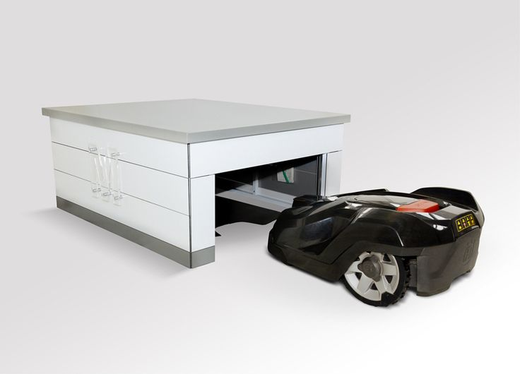 die besten 25 rasenroboter garage ideen auf pinterest. Black Bedroom Furniture Sets. Home Design Ideas