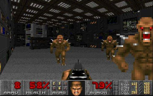 Doom (1993) -awwww yeaaah, gonna kill me some demons. Though not the first first person shooter thisnis the one that started the fps craze