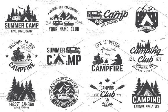 Summer camp by sivVector on @creativemarket