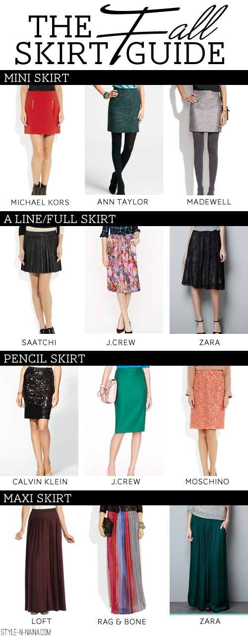 The Fall Skirt Guide | STYLE'N