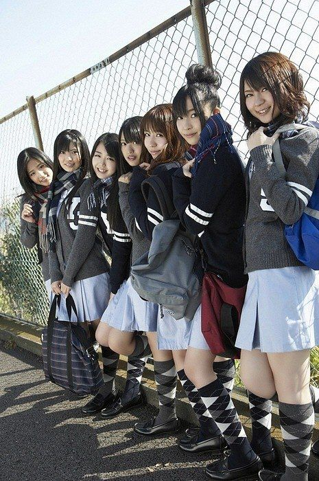 japanese school girls in uniform