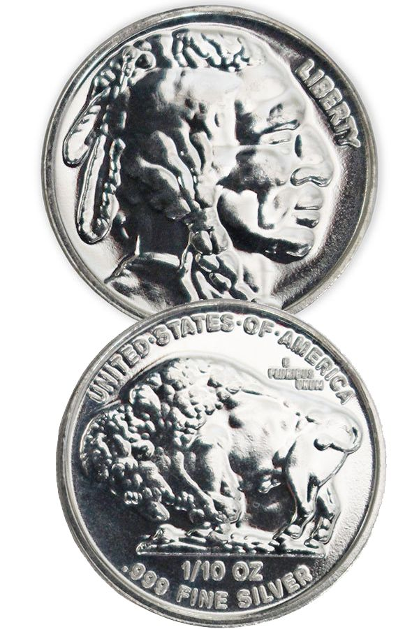 Buy 1 10 Oz Silver Buffalo Indian Head Rounds Money Metals Silver Bullion Silver Prices Silver