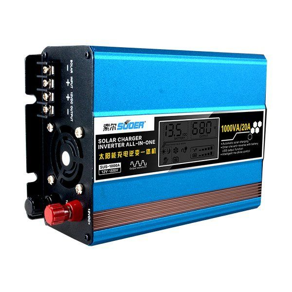 1000W 20A 3 Inch LED Display 12V To 220V Solar Car Power PV Inverter Converter With USB Output
