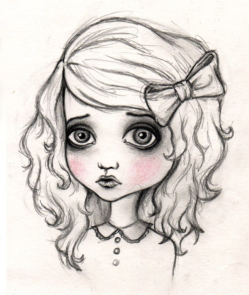 Such A Cute Cartoon Sketch Of Girl I Love When They Make The