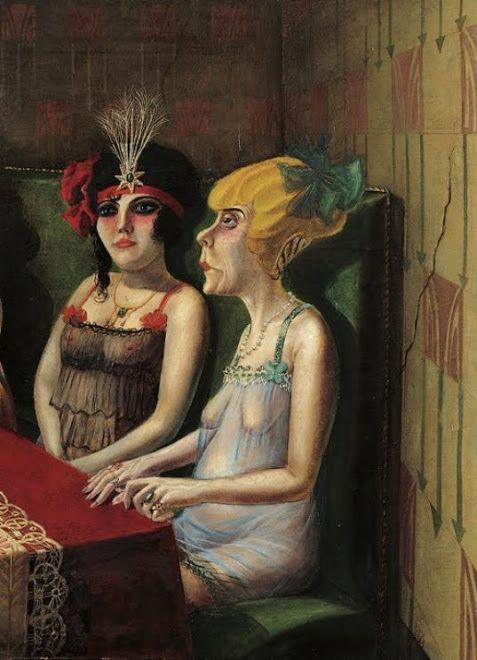 "Otto Dix, El Salón I, 1921.(Fragmento). Stuttgart. ............................ CALAMANDA Y LE DÉSESPÉRÉ DE GUSTAVE COURBET: JUAN MANUEL BLANES. URUGUAY. MUSEO MUNICIPAL DE BELLAS ARTES ""JUAN MANUEL BLANES"", MONTEVIDEO."