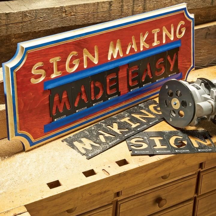Interlock Signmaker's Templates – Letters, Numbers, and Symbols
