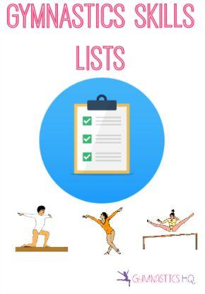 Gymnastics Skills: Event and Level Skill Lists