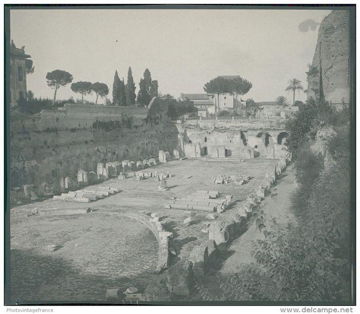 Italia, Roma. Monte Palatino, Lo Stadio, ca. 1905  vintage silver print. Italy.  Tirage argentique d'époque