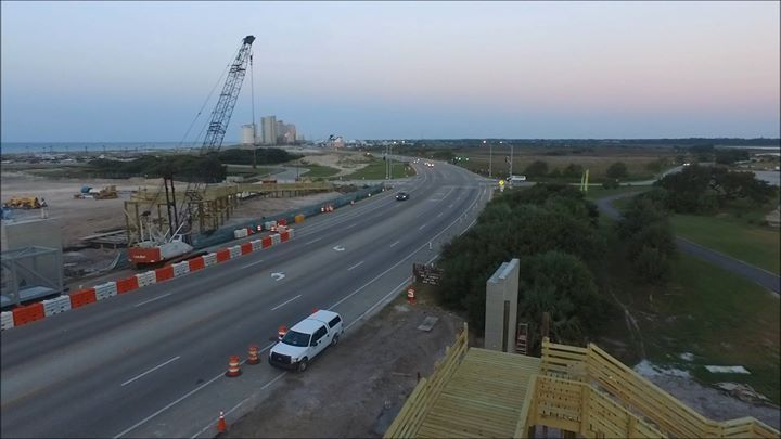OBA ROAD CLOSURE Reminder: They have started installing the walkover on the Beach Road (Hwy 182) use caution in this area.   The Beach Road will be closed between #GulfShores and #OrangeBeach this evening from 9pm until 2:30am. You'll have to use Canal Road instead.   Here's a video Michael Thomas, Micdesigns captured showing the new boardwalks where the overpass is being installed.   #oba #gas #websitedevelopment #webdesignagency #codelife #programminglife #backend #softwaredeveloper…