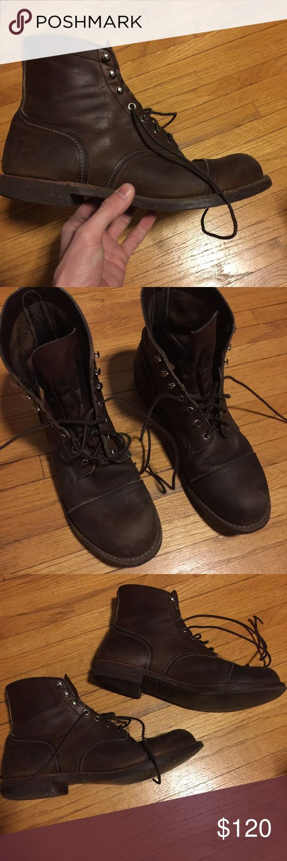 """Red Wing Iron Ranger Boots Lightly used Red Wing Iron Ranger boots.   Size 12, but they fit more like a 13.   These are factory seconds, so they sell for about $200 regular price. Whatever blemish exists on the boots, I don't know where it is. I've worn a few different pairs of factory seconds Red Wings for several years, and they last forever, just like the """"non-blemished"""" boots. Non-factory-seconds retail for over $300. Treated once with boot oil; the leather is darker and softer than a…"""