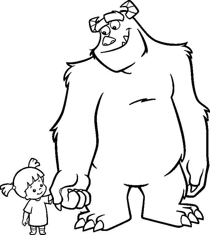 31 best Monsters, Inc Coloring Pages images on Pinterest | Kids net ...