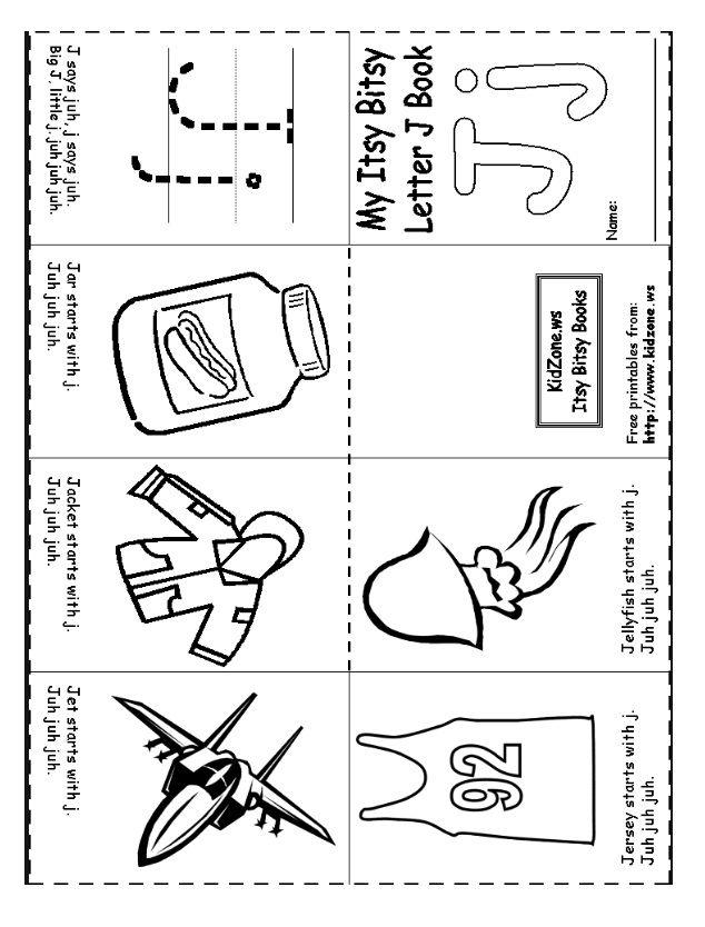 Letter J Worksheet For Kindergarten Preschool And 1 St Grade Preschool And Kindergarten Letter J Preschool Letters Preschool Worksheets