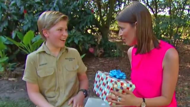 Terri Irwin says Robert is 'so much like his dad' as he celebrates 13th birthday.