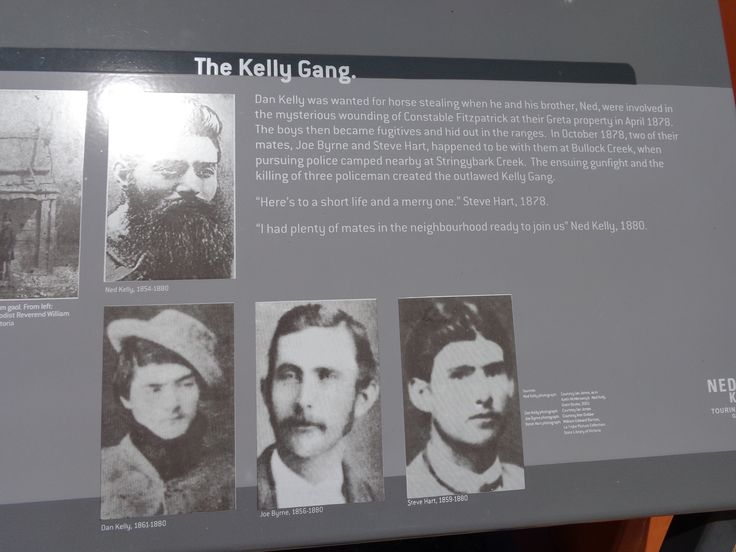 Brief outline of the Kelly gang