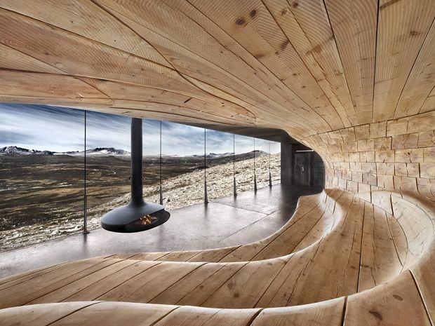 Reindeer Spotting Pavilion by Snohetta Architects - via inthralld